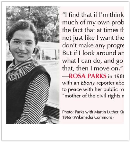 why i admire rosa parks People look up to and respect rosa parks because she was a pioneer of civil rights in the 1950s rosa parks was the first african american to refuse giving up her bus seat to a white.